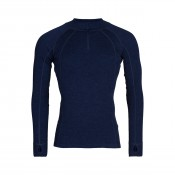 KW Merino Mens Zip neck navy