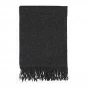 KW Small Wool Scarf Charcoal