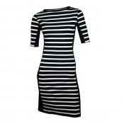KW Margit rib dress Navy/Pearl