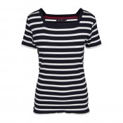 KW Ashley Rib T Navy/Pearl