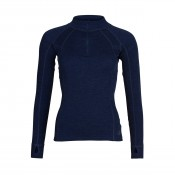 KW Merino DAM Zip Neck navy
