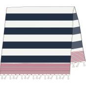 SR Beach Towel Navy/Red